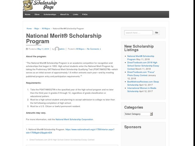 National Merit® Scholarship Program