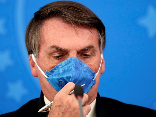 Brazil's president received a fine in Sao Paulo for violating local coronavirus mask restrictions