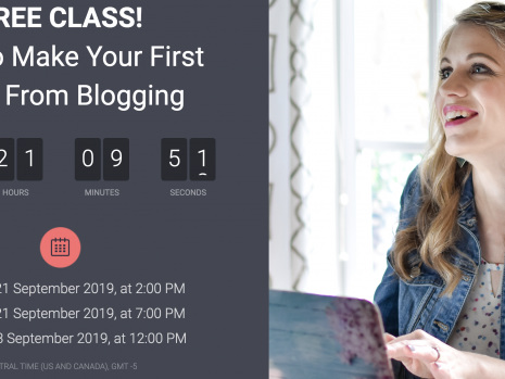 How to Make Your First $100 From Blogging {free class}