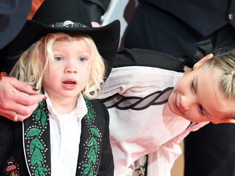 Pink's Daughter, 8, Dresses Up Like Cinderella With A Cute Hair Bun & Son Jameson, 3, Is Woody