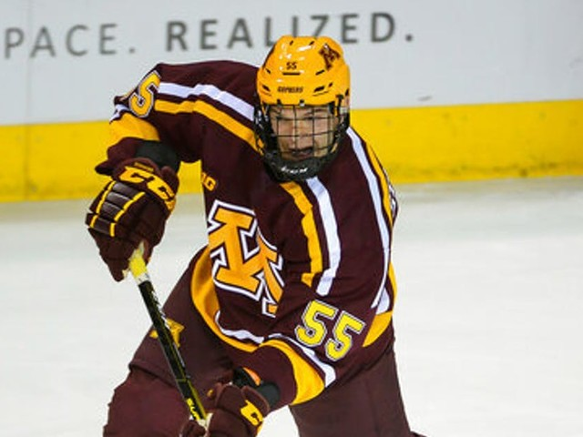 Freshman Matt Staudacher gives Gophers' blue line needed grit