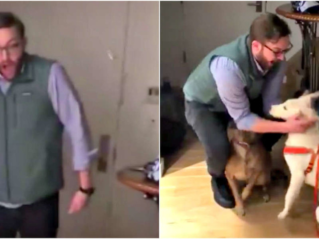 Guy Totally Loses It When He Sees His Birthday Surprise