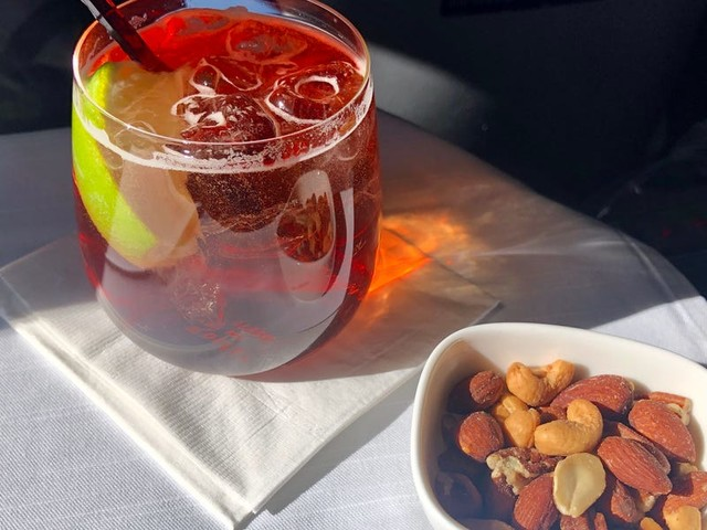 Credit cards from Delta, United, and other airlines offer discounts on in-flight purchases, so you can save on drinks, Wi-Fi, and more