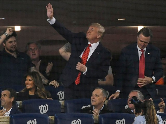 Trump met with sustained boos when introduced at Game 5 of the World Series