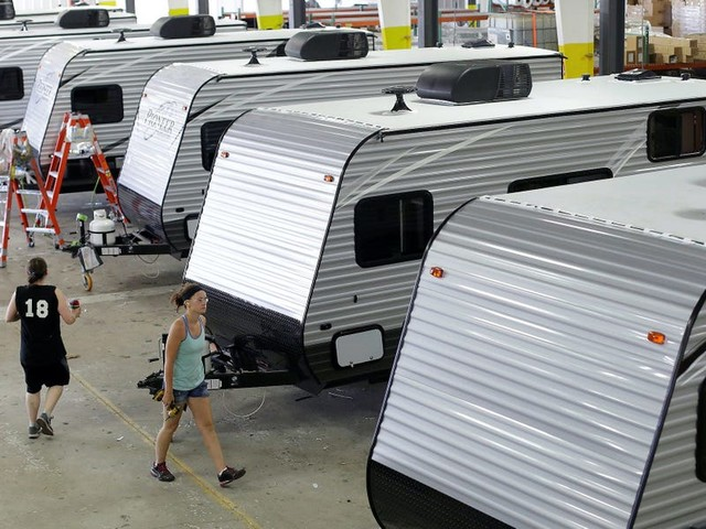 A major RV maker now has $14 billion in backlogged orders and is 'pretty much sold out for the next year'