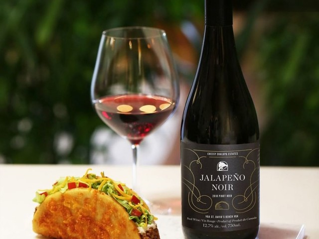 Taco Bell Now Offers Branded Wine