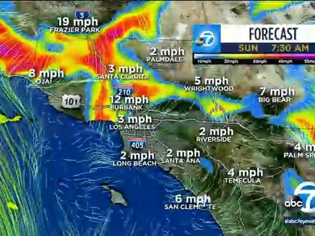 Hot temperatures, windy conditions, low humidity in store for week in SoCal