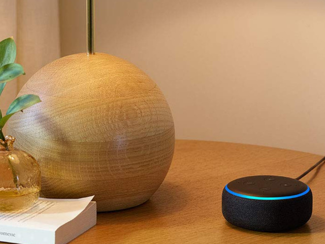 The Amazon Echo Dot smart speaker is on sale for under £35
