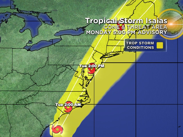 Tracking Isaias: Storm Forecast To Make Landfall At Or Near Hurricane Strength In East Carolinas