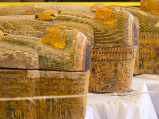 Egypt unveils discovery of 30 ancient coffins with mummies inside