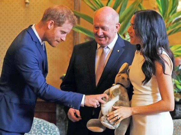 Prince Harry, Peter Cosgrove & Meghan Markle