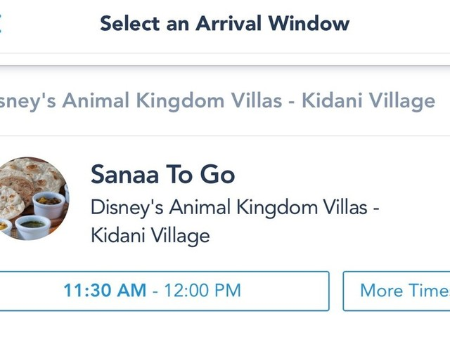 Disney Table Service To Go Debuts in the My Disney Experience App