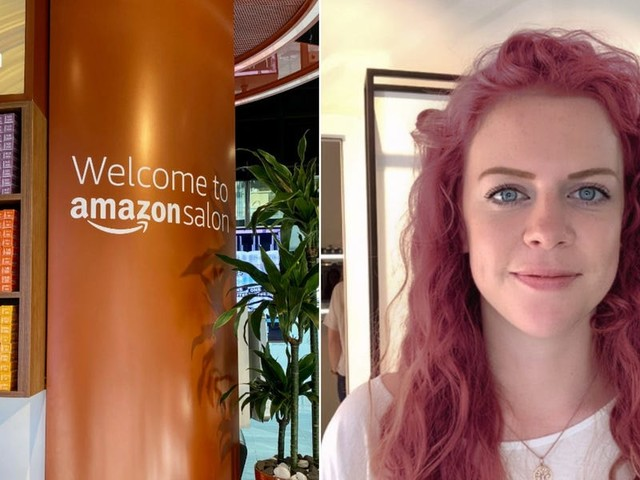 I went to Amazon's high-tech hair salon and virtually dyed my hair pink - then got the best haircut I've ever had