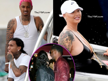 Tyga Celebrates 30th B'Day With Kylie Lookalike, BFF Alexander Edwards & Amber Rose In St. Barts + Reggie Bush & Wife Get Kissy In LA