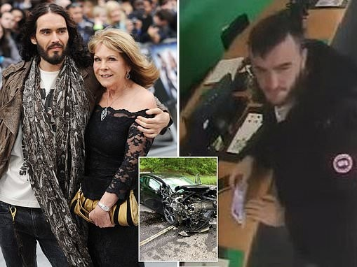 Police hunt man over hit-and-run crash that left Russell Brand's mother in a coma