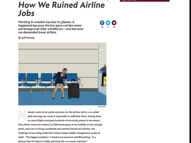 How We Ruined Airline Jobs