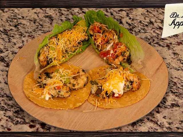 Big Game Cilantro and Garlic Infused Shrimp Tacos Recipe