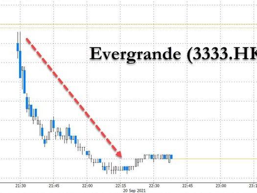Hong Kong Stocks Crash, Futures Slide As Markets Finally Freak Out About Evergrande Default Contagion
