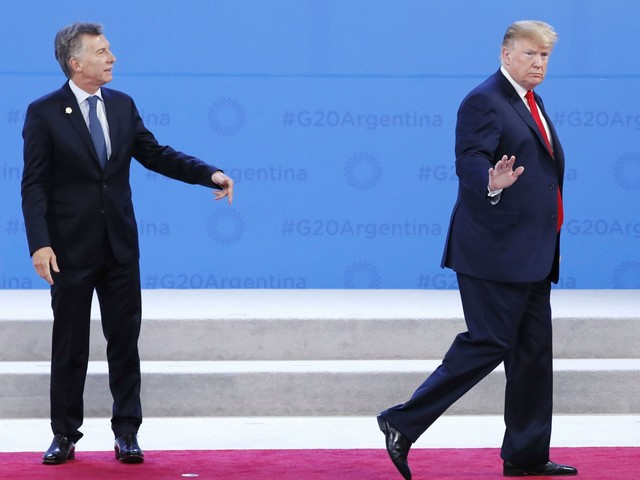 Donald Trump was a weak, senile Nazi at the G20 conference in Argentina
