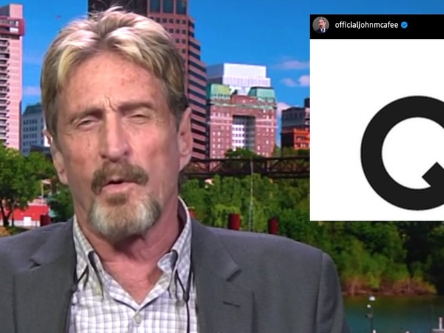 McAfee's Instagram account gets deleted hours after it posted the letter 'Q'