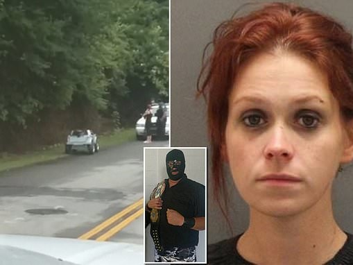 Mother, 25, is arrested for DUI after she was caught driving a toy truck on the road