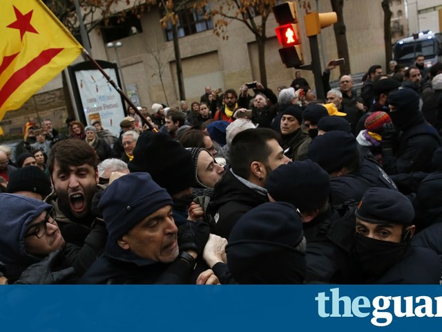 Scuffles break out as artworks removed from Catalan city's museum