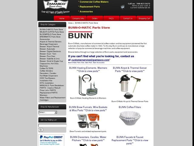 Bunn Repair/Replacement Parts for Bunn-O-Matic Coffee Makers/Brewers - Bunn Coffee Equipment