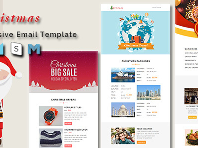 Christmas - Responsive Newsletter and Notification Template (Newsletters)