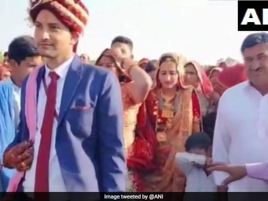 Rajasthan Bride Gets Grand Send-Off - In A Chopper