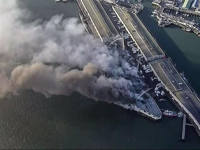 VIDEO: Massive 4-Alarm Fire Destroys Warehouse on San Francisco's Fisherman's Wharf
