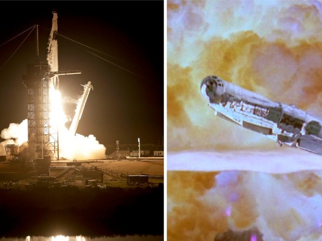 Elon Musk says the Crew Dragon spacecraft is designed to escape a fireball 'literally like something out of Star Wars'