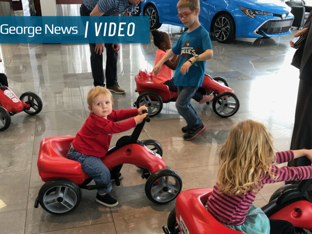Stephen Wade Toyota donates pumper cars to school district for kids with special needs
