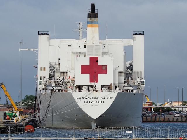 The giant floating hospital outside New York isn't for coronavirus