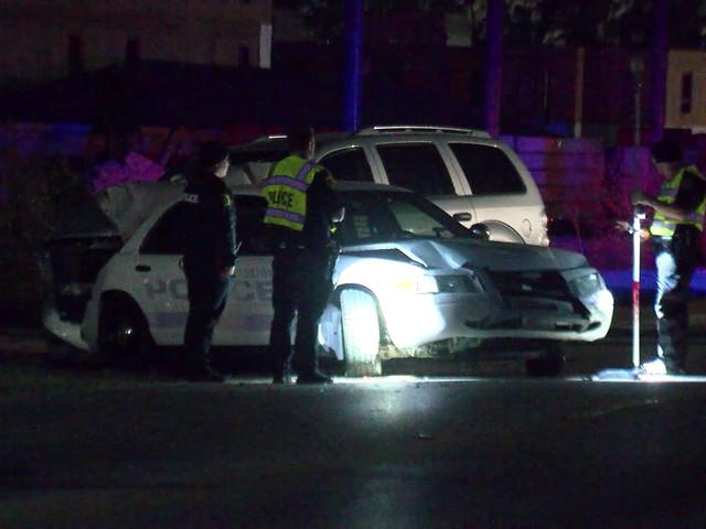 HPD officer injured after suspected drunk driver slams into patrol car