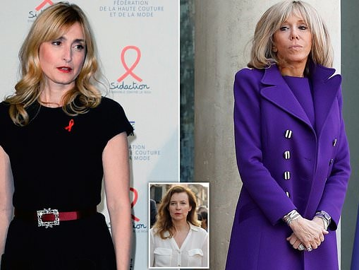 First Ladies at war! Francois Hollande's girlfriend was 'snubbed' by Brigitte Macron