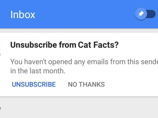 Inbox Testing Way For Users To Unsubscribe Emails They Don't Read