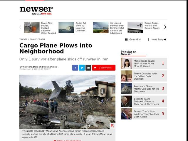 Cargo Plane Plows Into Neighborhood