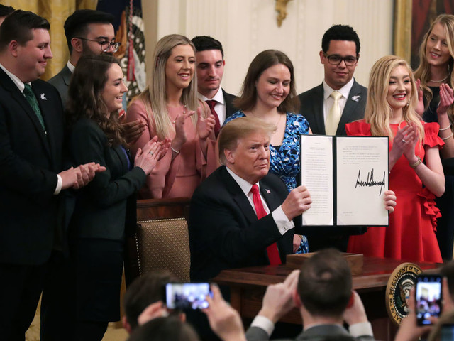 White House executive order prods colleges on free speech, program-level data and risk sharing