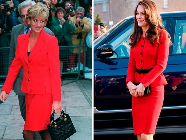 18 Times Kate Middleton and Princess Diana Basically Wore the Same Outfit