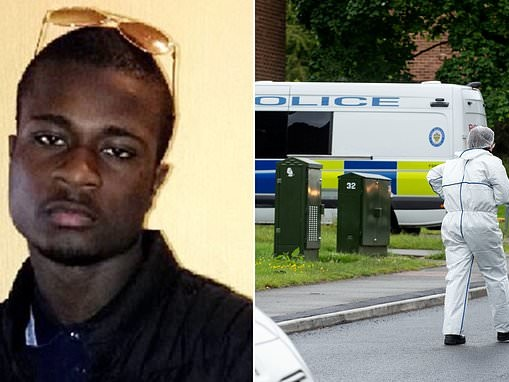 Police arrest two teenagers after 21-year-old man was stabbed to death in broad daylight