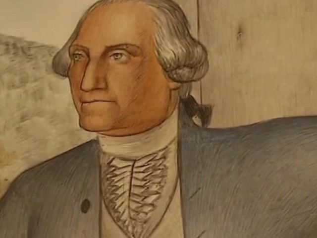 George Washington mural that 'traumatizes students' won't be destroyed after all. School board votes to cover historic art instead.