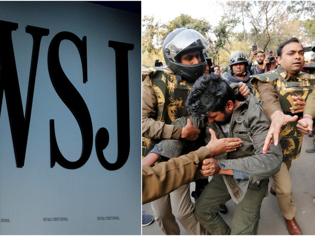 Police complaint in India targets Wall Street Journal for stoking 'communal tension' & 'defaming' Hindus amid fatal Delhi riots