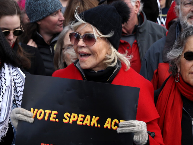 Jane Fonda Avoids Fifth Arrest While Protesting for Climate Change Awareness in Washington D.C.
