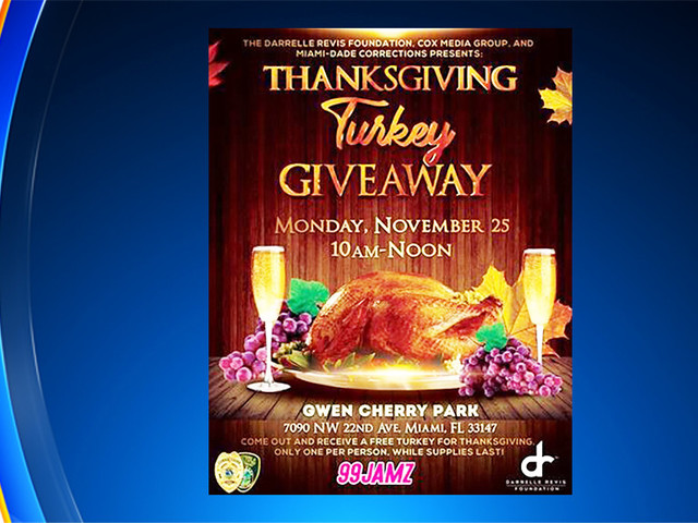 Just In Time For Thanksgiving: 1,000 Turkeys To Be Given Away In NW Miami-Dade