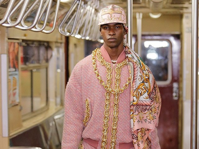 Pre Fall 2020: Moschino goes super size on New York subway