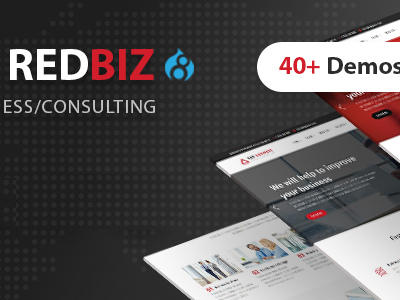 RedBiz - Business & Consulting Multi-Purpose Drupal 8 Theme (Business)