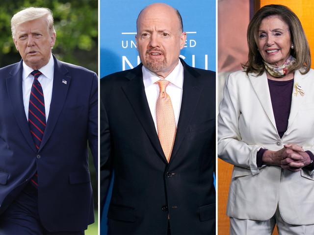 Trump rips CNBC host Jim Cramer for 'pandering' to 'Crazy Nancy' Pelosi
