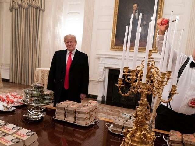 Who's cooking for the Trumps during the shutdown? It's probably not McDonald's.