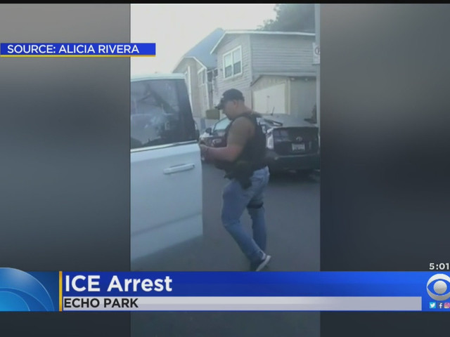 Video Captures Intense Moments 2 ICE Agents Take Echo Park Mom Into Custody