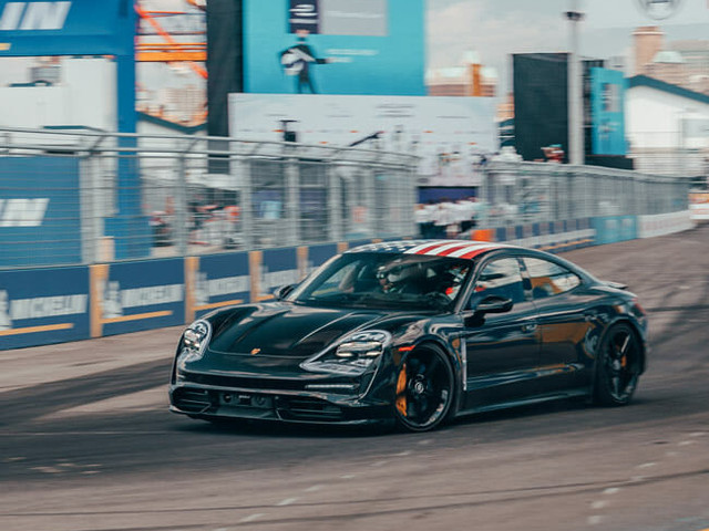 What's It Like to Ride in Porsche's All-Electric Tesla Fighter on a Race Track?